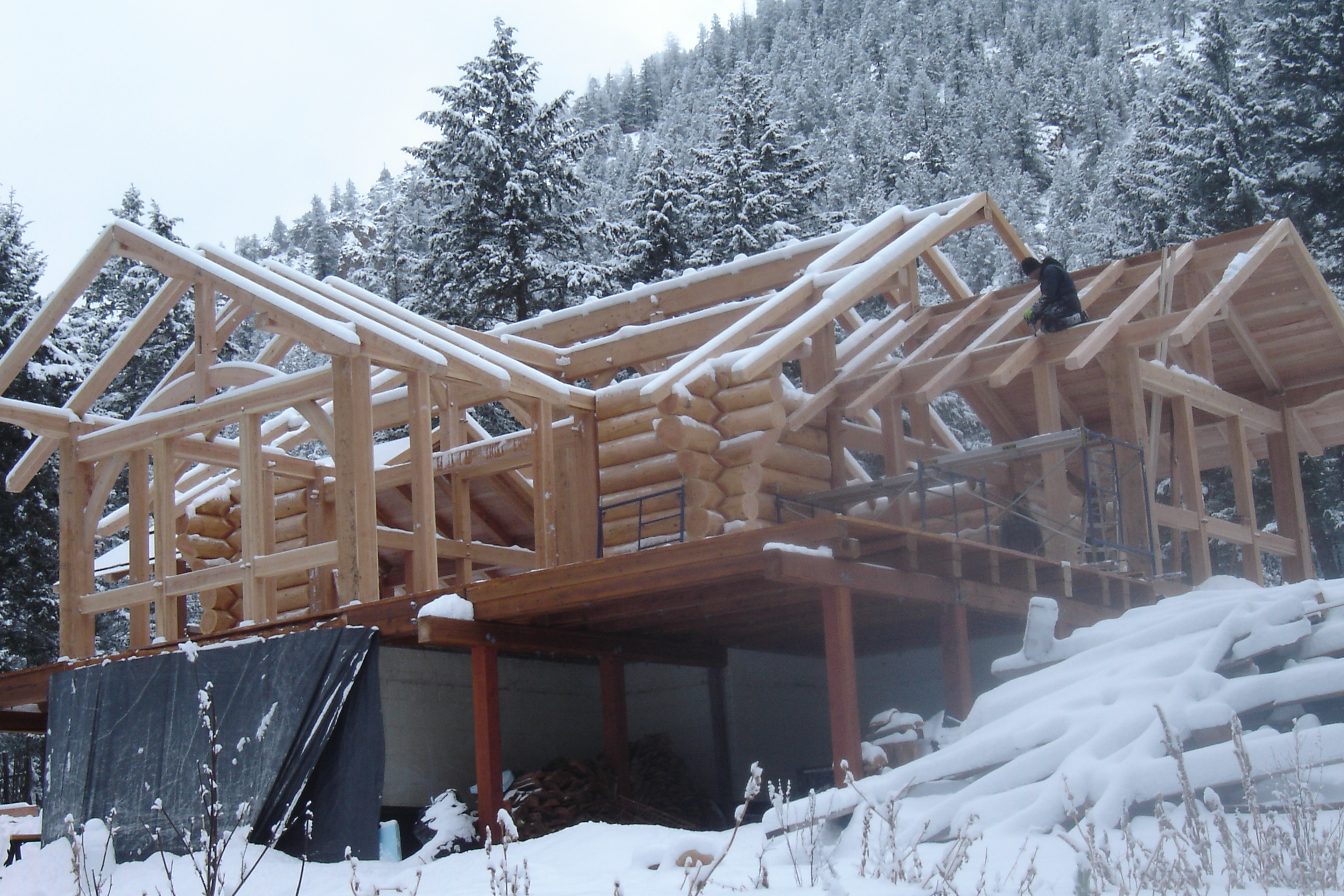 The Owner Built Home Of Logs Timber Local And Natural